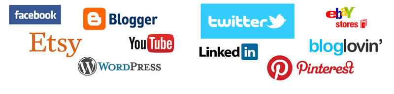 facebook, ebay, etsy, wordpress, pinterest, youtube, linkedin, twitter